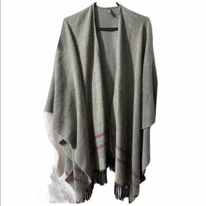 Roots Wool and Cashmere blend Poncho